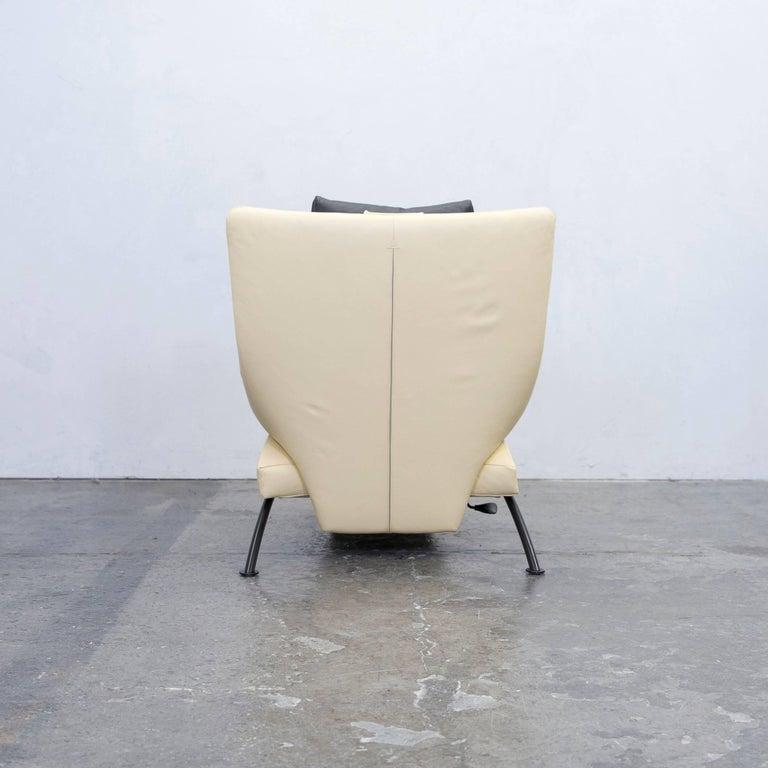 wk wohnen solo 699 designer chair leather cr me black. Black Bedroom Furniture Sets. Home Design Ideas