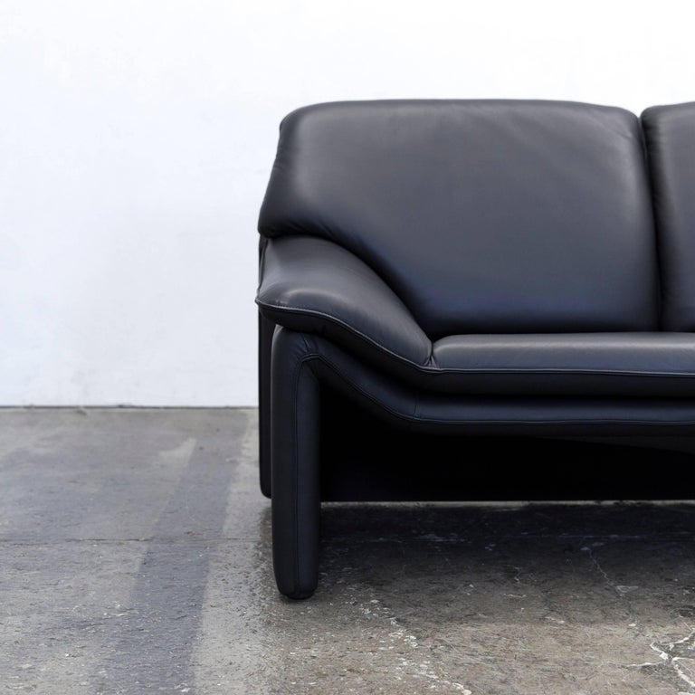 Designer couch  Laauser Atlanta Designer Sofa Leather Black Two-Seat Couch Modern ...