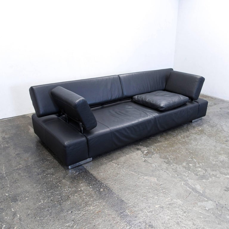 br hl and sippold sunrise two designer sofa black three. Black Bedroom Furniture Sets. Home Design Ideas