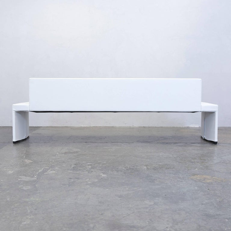 walter knoll together sofa leather four seat white couch modern at 1stdibs. Black Bedroom Furniture Sets. Home Design Ideas