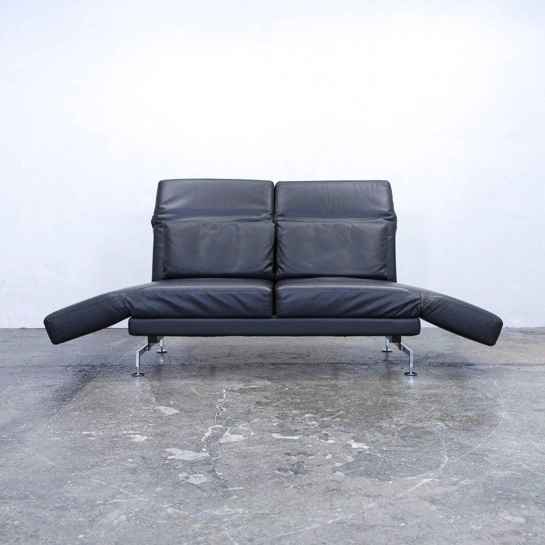br hl and sippold moule designer sofa leather black two. Black Bedroom Furniture Sets. Home Design Ideas