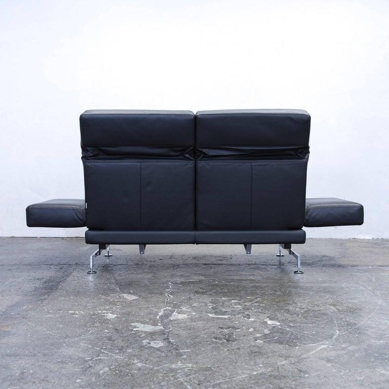 br hl and sippold moule designer sofa leather black two seat function modern at 1stdibs. Black Bedroom Furniture Sets. Home Design Ideas