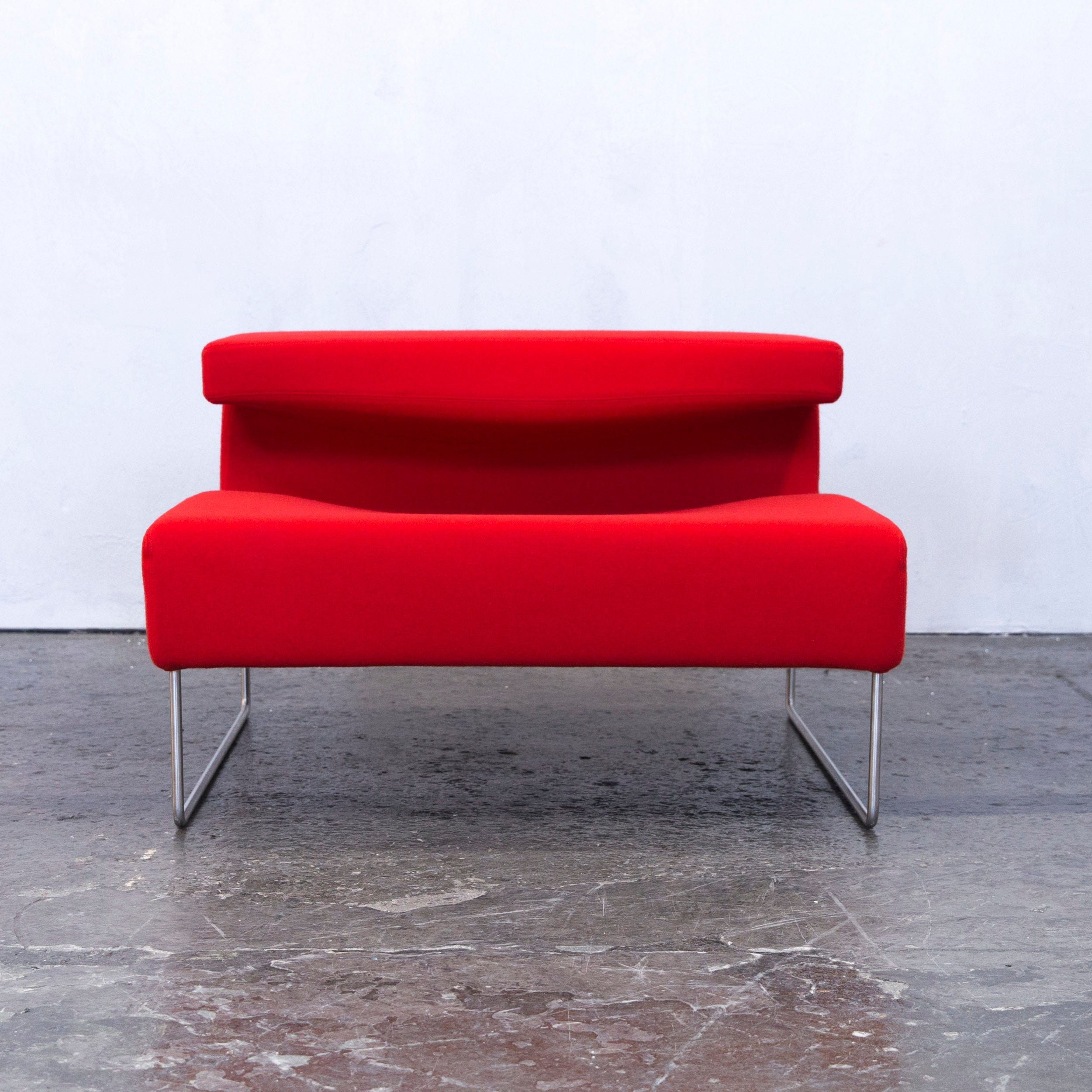 Moroso Lowseat Designer Chair Fabric Red One Seat Microfibre Couch Modern