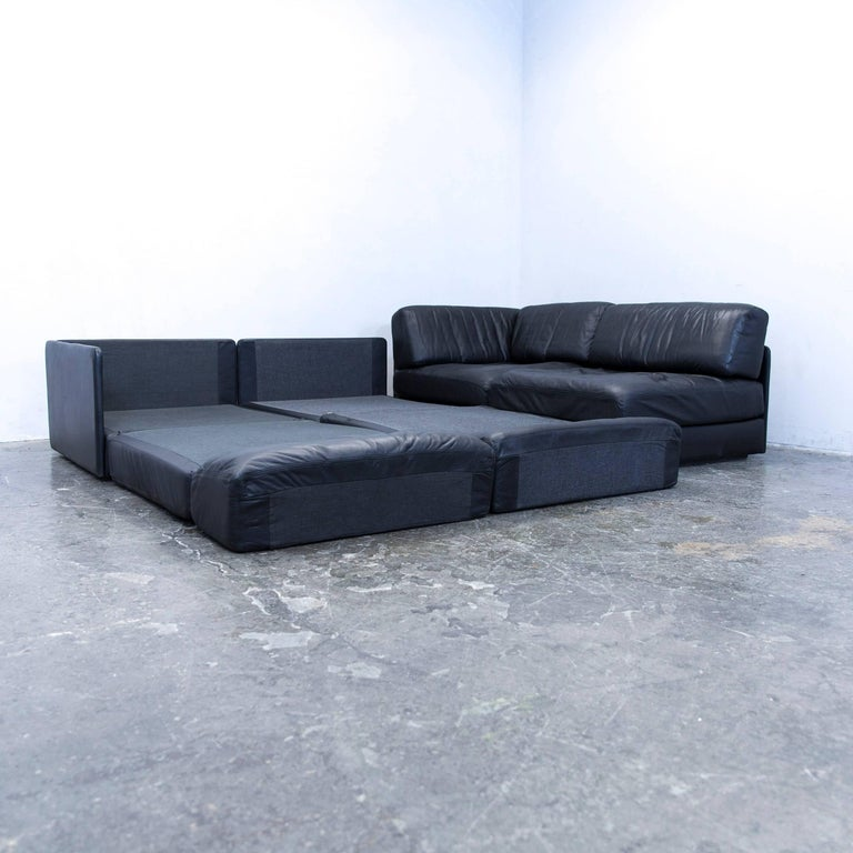 De sede ds 76 designer cornersofa leather black function for Funktions ecksofa