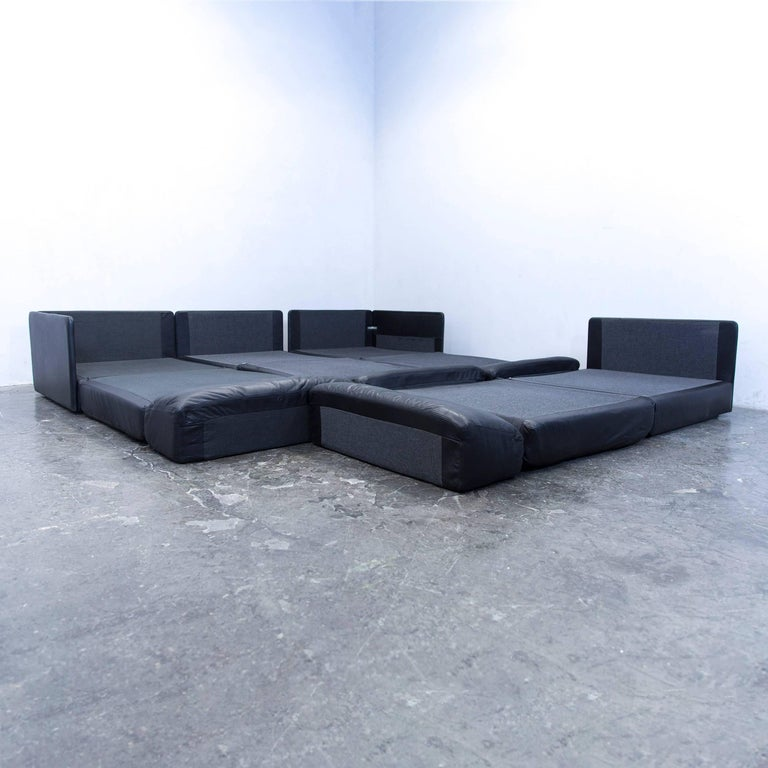 de sede ds 76 designer cornersofa leather black function. Black Bedroom Furniture Sets. Home Design Ideas