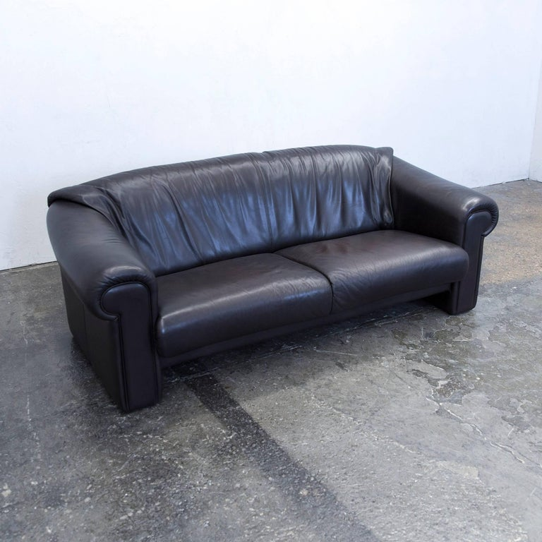 br hl and sippold designer sofa leather brown two seat couch modern for sale at 1stdibs. Black Bedroom Furniture Sets. Home Design Ideas