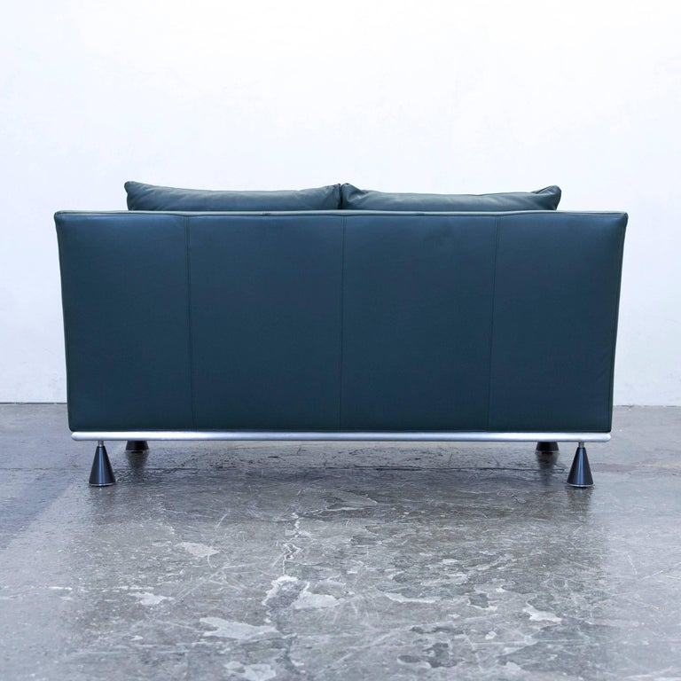 rolf benz designer sofa leather green two seat couch modern at 1stdibs. Black Bedroom Furniture Sets. Home Design Ideas