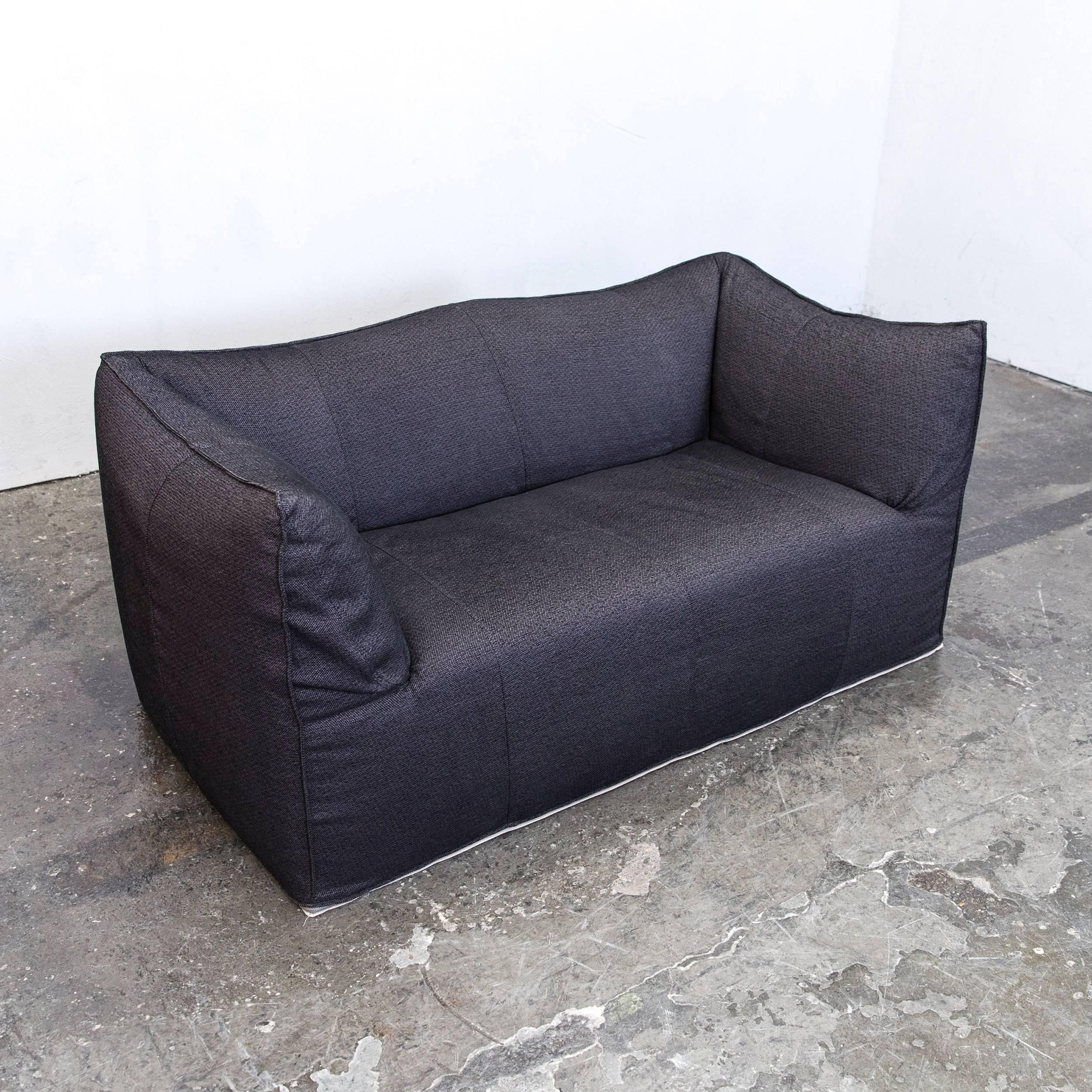 zweisitzer couch laauser designer sofa black leather twoseat couch function modern at stdibs. Black Bedroom Furniture Sets. Home Design Ideas