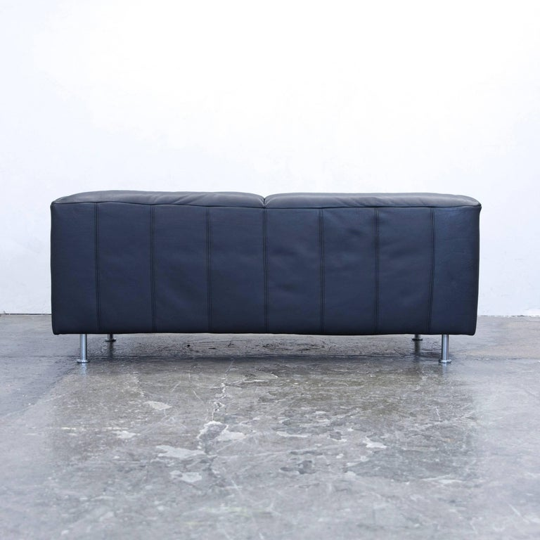 Willi Schillig Designer Sofa Leather Anthrazit Black Three Seat Couch Modern For Sale At 1stdibs