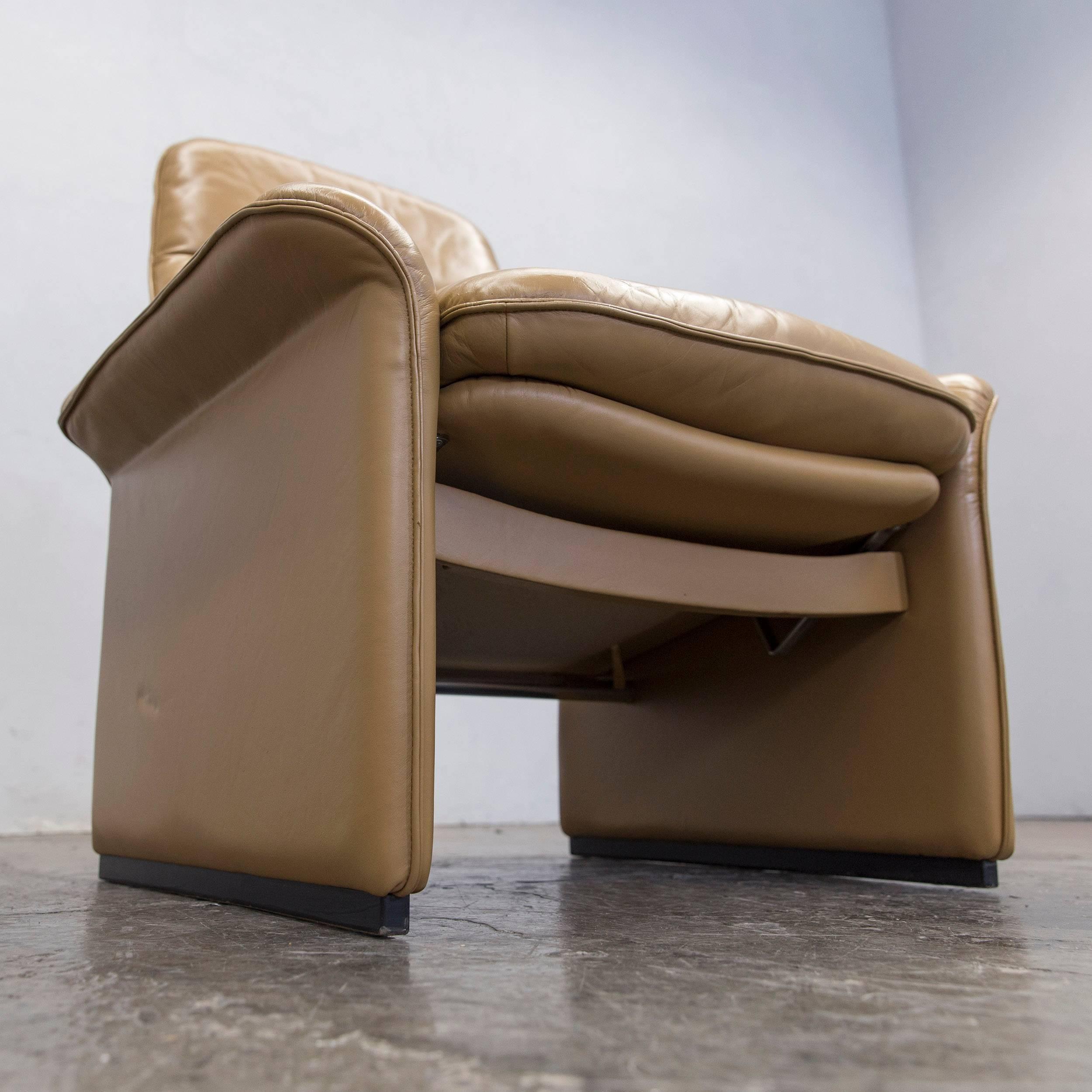 Swiss De Sede DS 50 Leather Relax Chair Ochre Modern For Sale