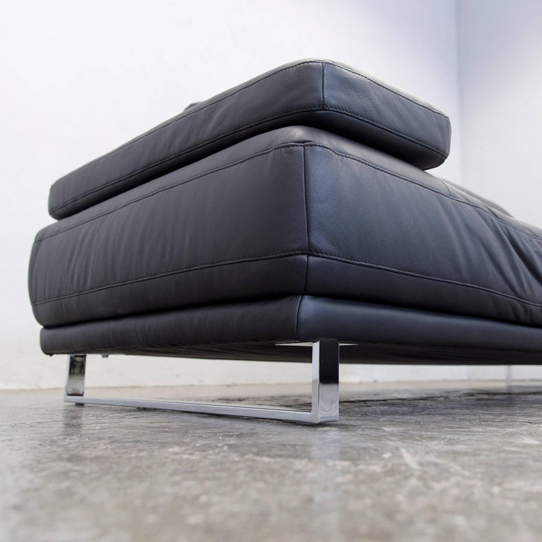 ewald schillig designer leather sofa three seat couch. Black Bedroom Furniture Sets. Home Design Ideas