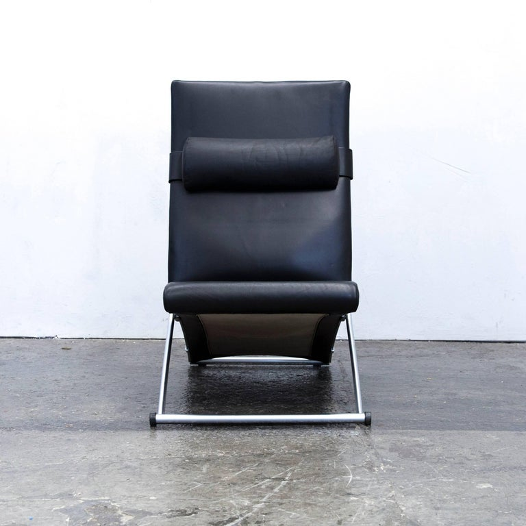 Tv sessel modern  Interprofil Xchair Leather Relax Chair Black Joachim Nees Function ...