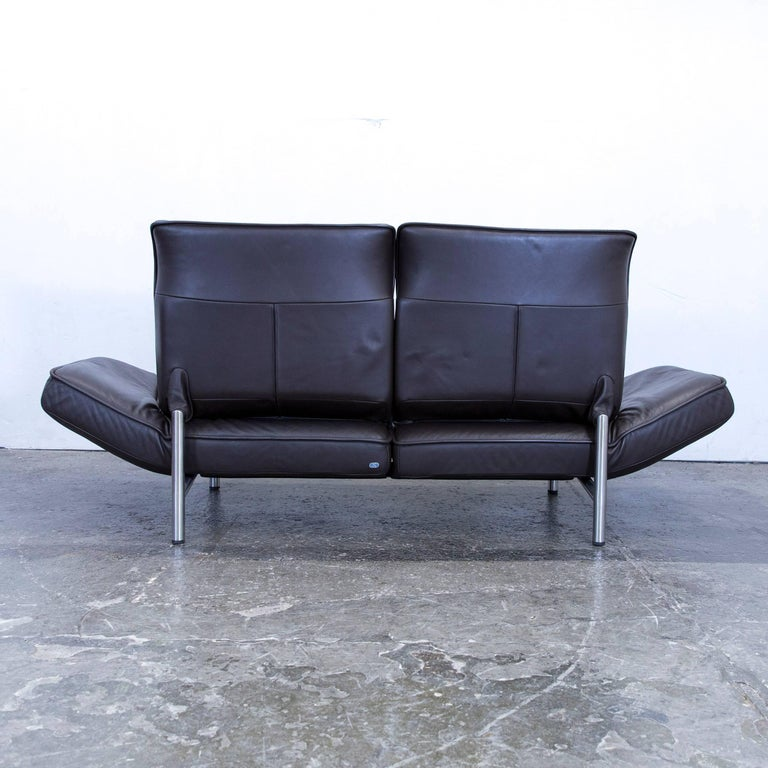 De Sede Ds 450 Designer Leather Sofa Brown Relax Function Two Seat Modern For Sale At 1stdibs