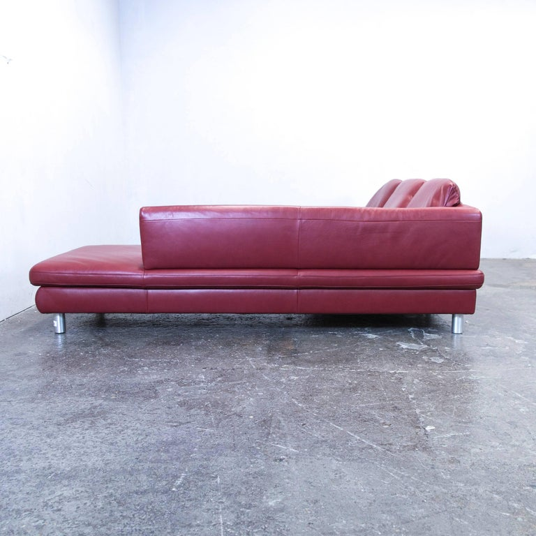 Koinor Volare Leather Corner Sofa Red Function Couch