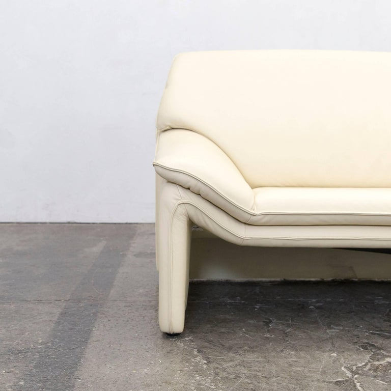 Ledersofa modern beige  Laauser Designer Leather Sofa Crème Beige Three-Seat Couch Modern ...