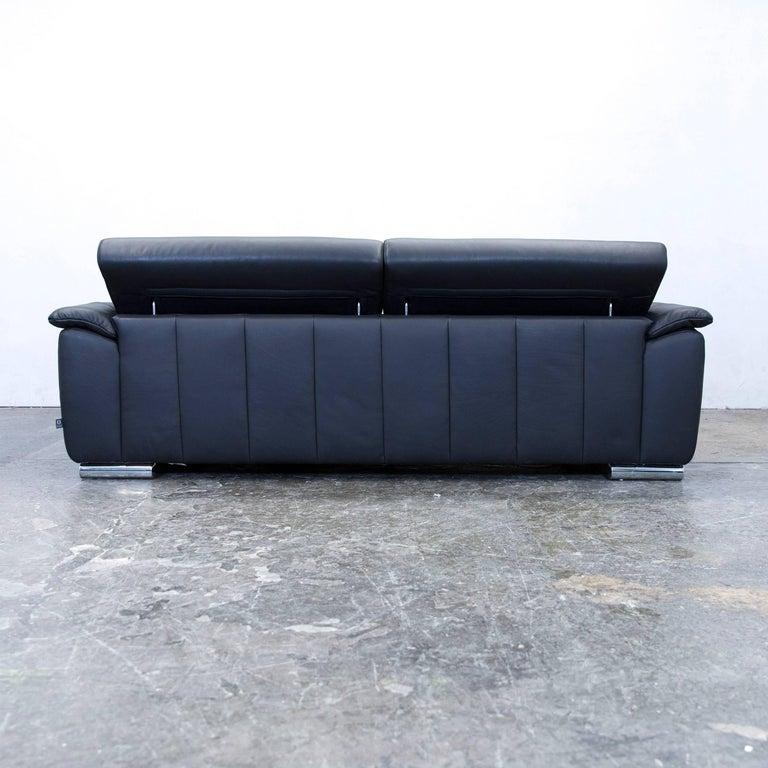 ewald schillig designer sofa leather black two seat. Black Bedroom Furniture Sets. Home Design Ideas