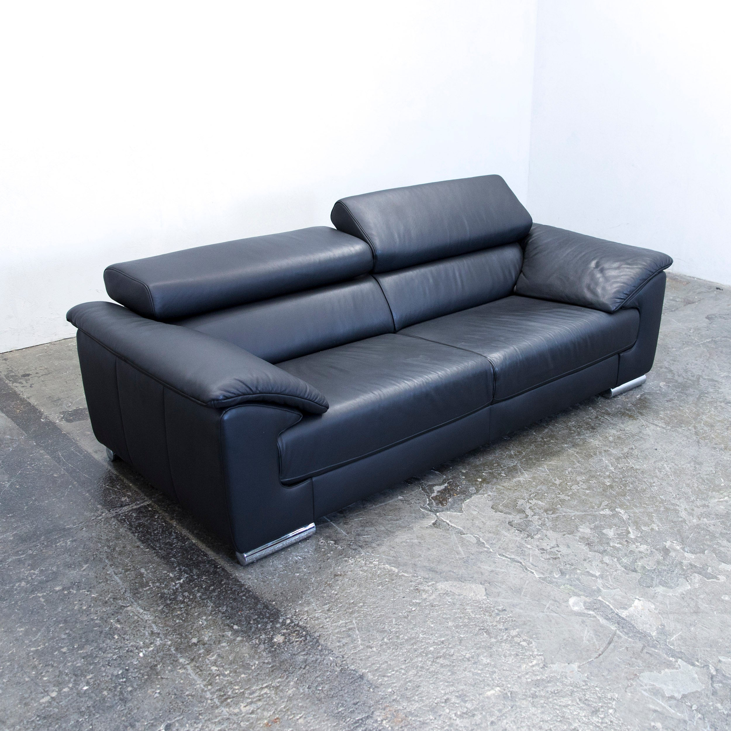 Inspirierend Schillig Sofas Galerie Von Ewald Designer Sofa Leather Black Two-seat Function