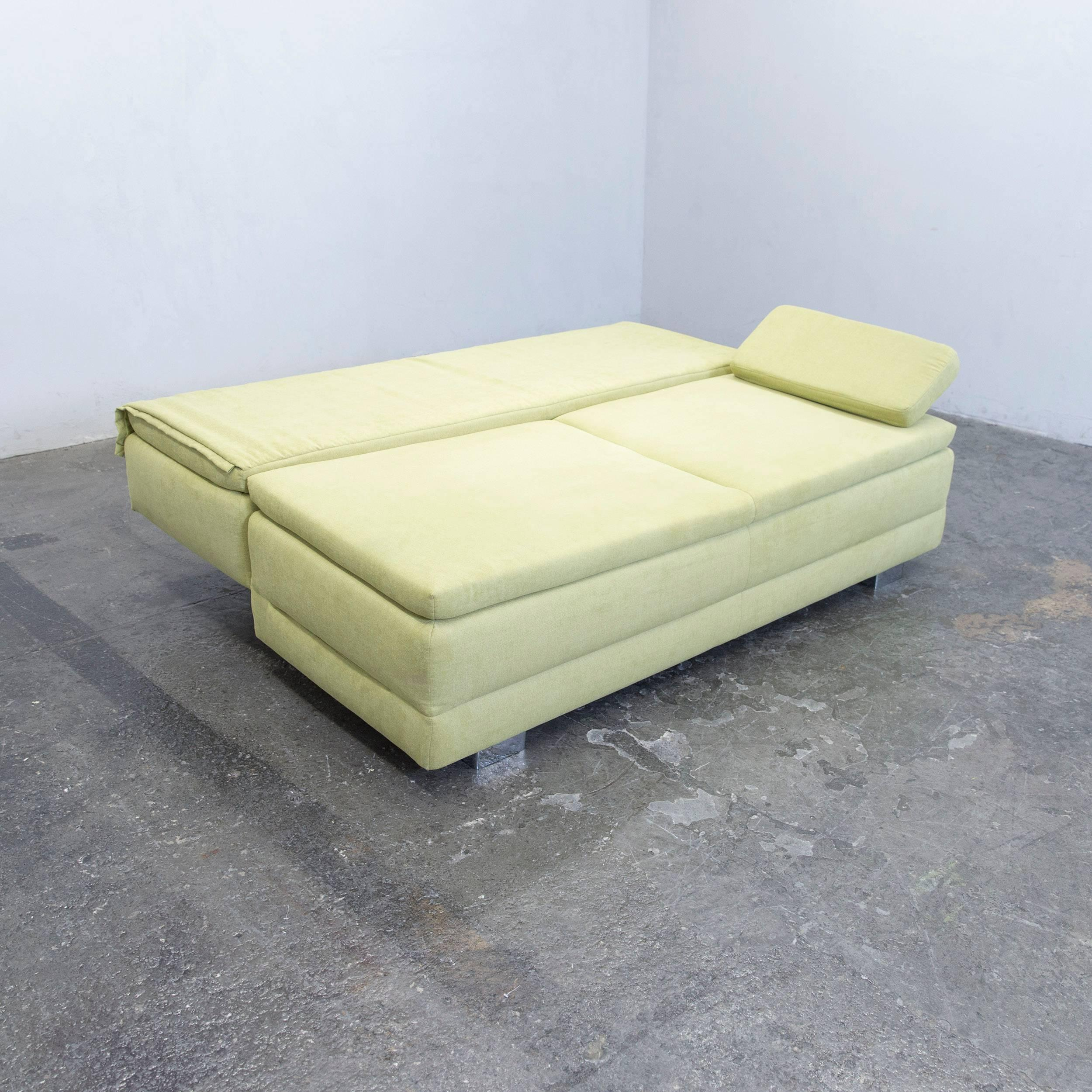 Großartig Schlafsofa Boxspring Sammlung Von Designer Sleep Sofa Fabric Green Three-seat Function