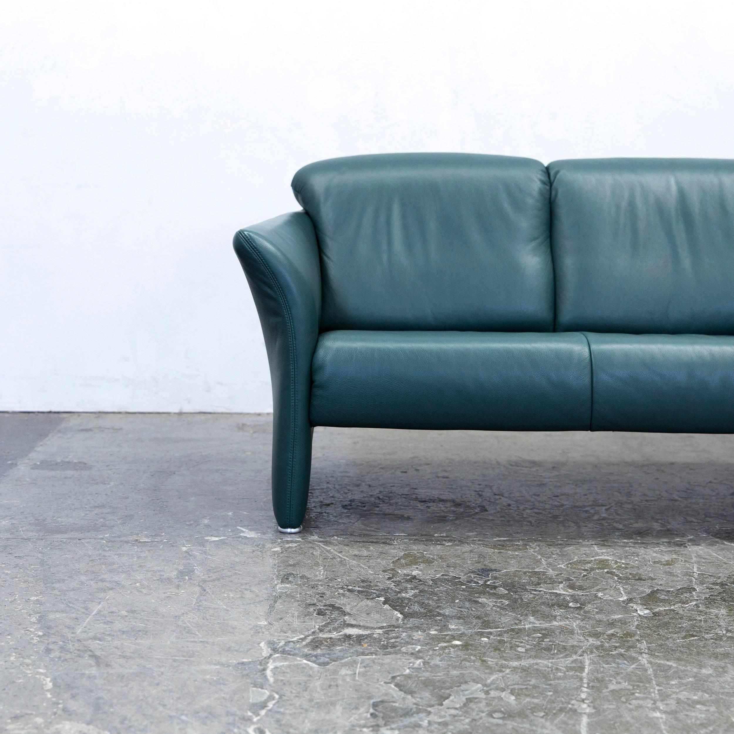 Green Colored Original Koinor Designer Leather Sofa, In A Minimalistic And  Modern Design, Made