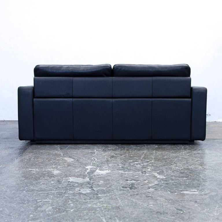 cor conseta designer sofa leather black sleepsofa three seat couch modern at 1stdibs. Black Bedroom Furniture Sets. Home Design Ideas