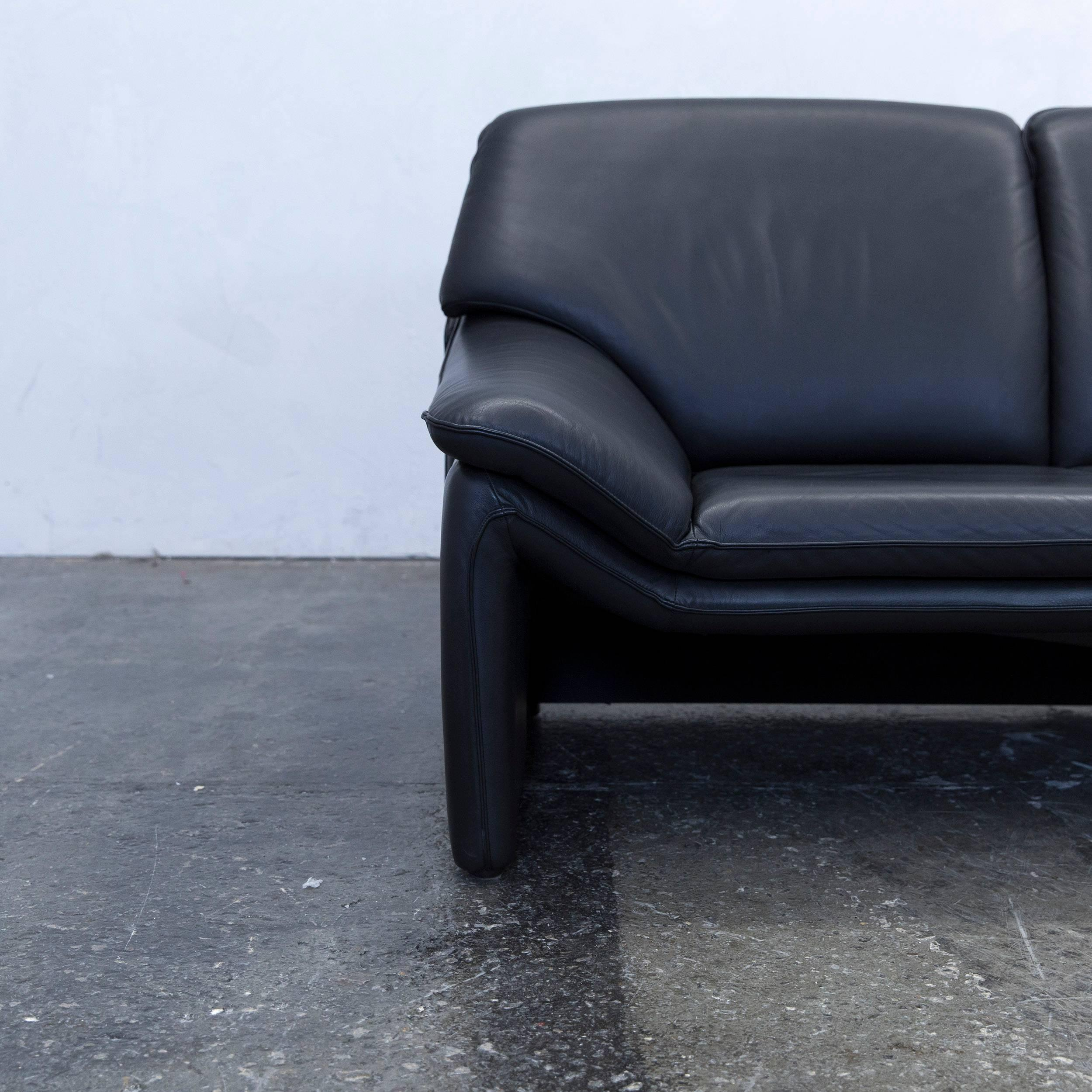 Best Black Colored Original Laauser Atlanta Designer Leather Sofa In A And  Modern Design With Sthle Modern Schwarz