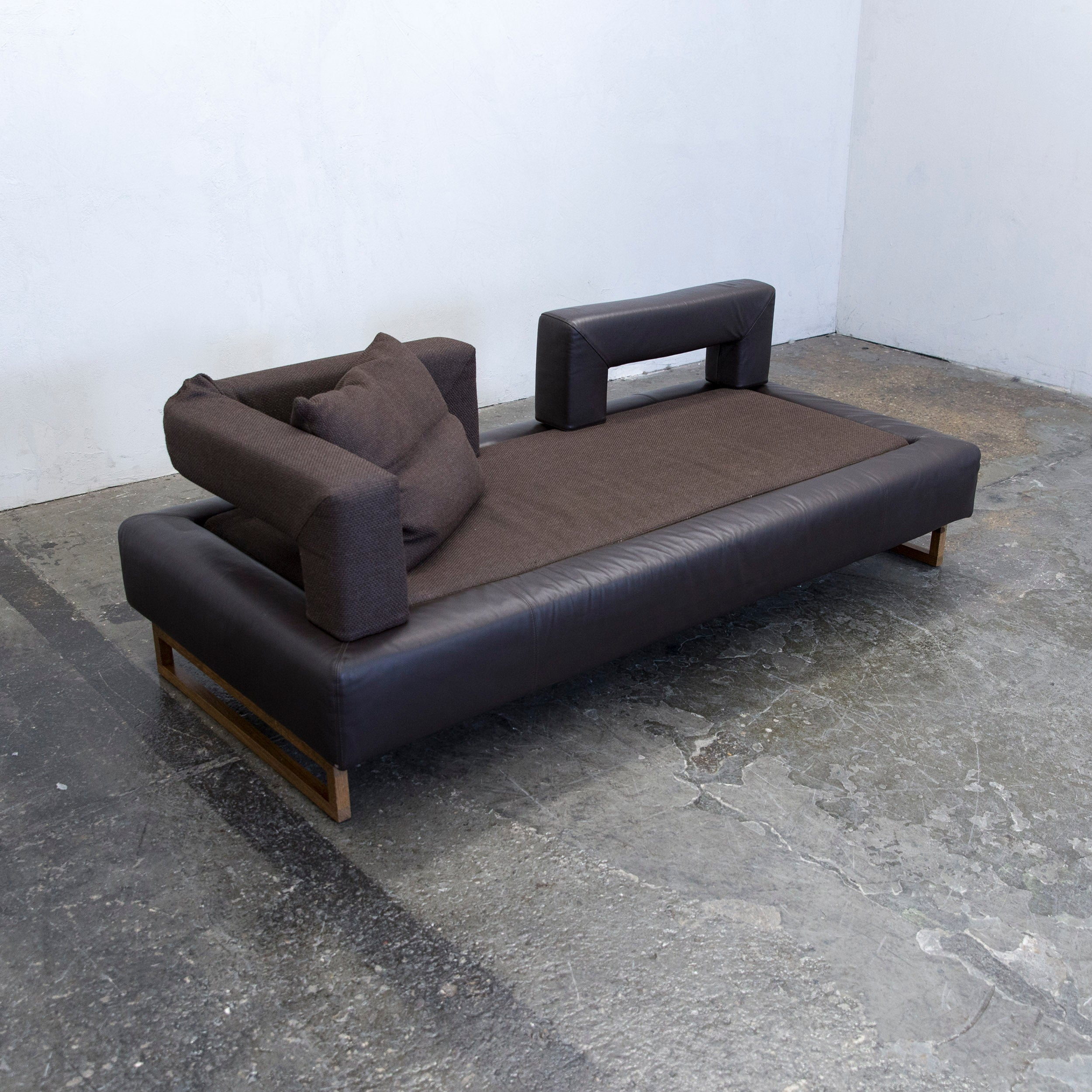 Bruhl And Sippold Plupp A P Designer Sofa Leather Fabric Brown