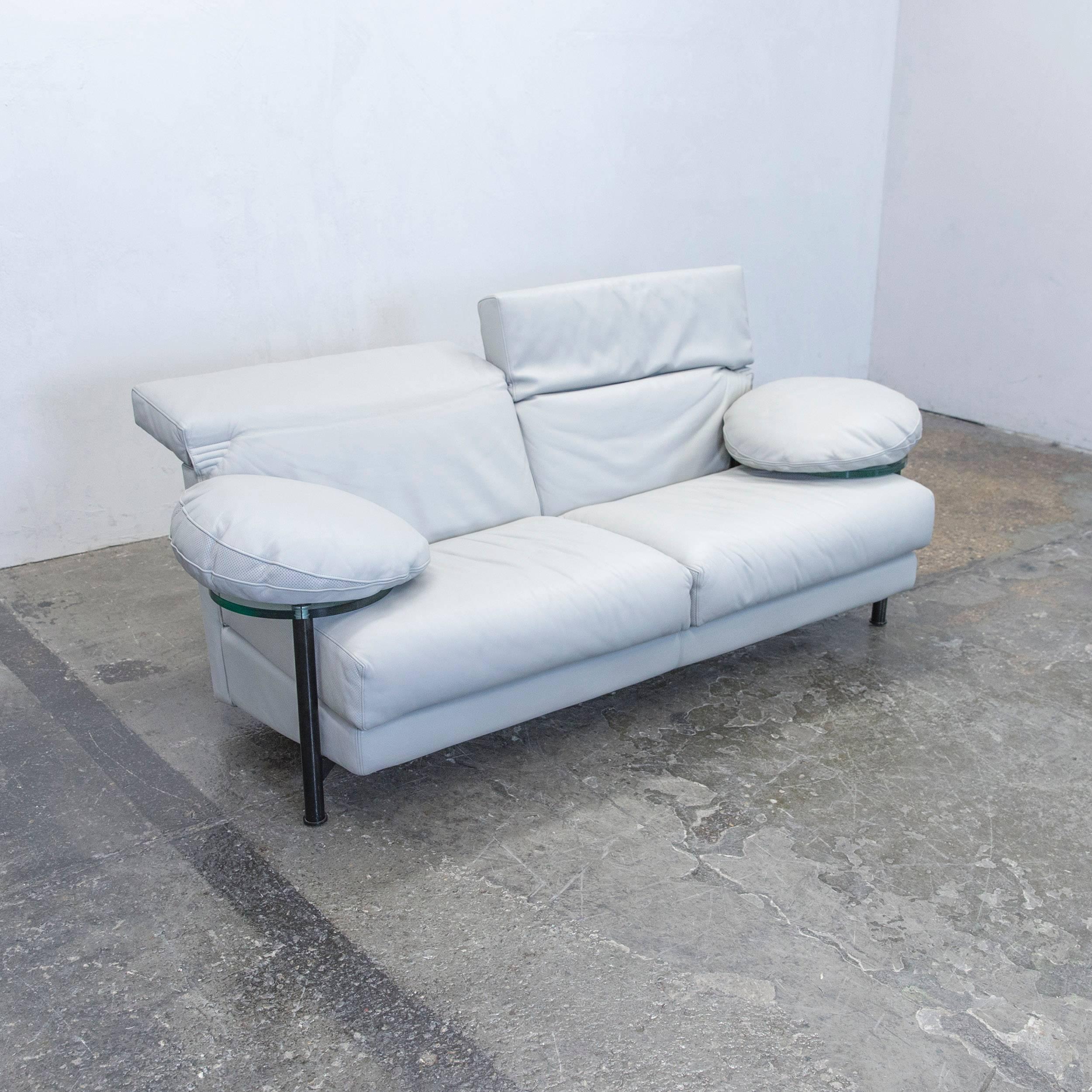 B Italia Arca Paolo Piva Designer Sofa Grey Leather Three Seat Gl Function At 1stdibs