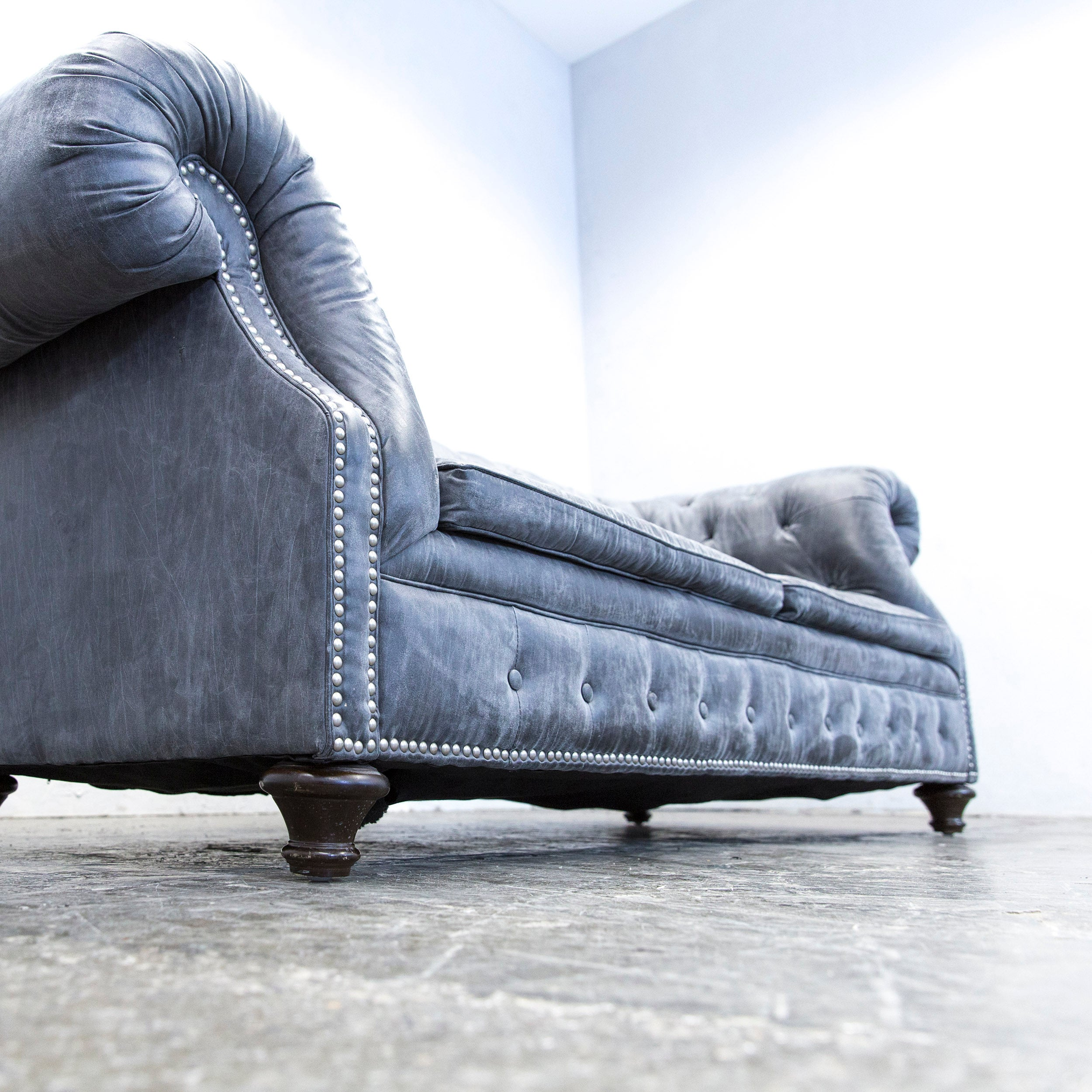Sofa Alcantara chesterfield sofa alcantara microfibre fabric grey three seat