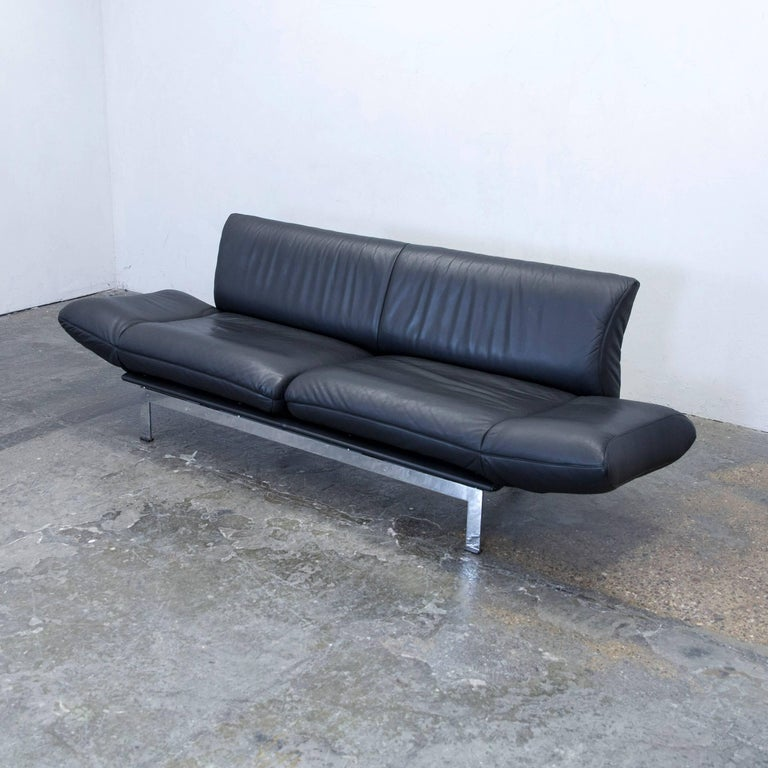de sede ds 140 designer sofa leather black two seat function couch modern at 1stdibs. Black Bedroom Furniture Sets. Home Design Ideas