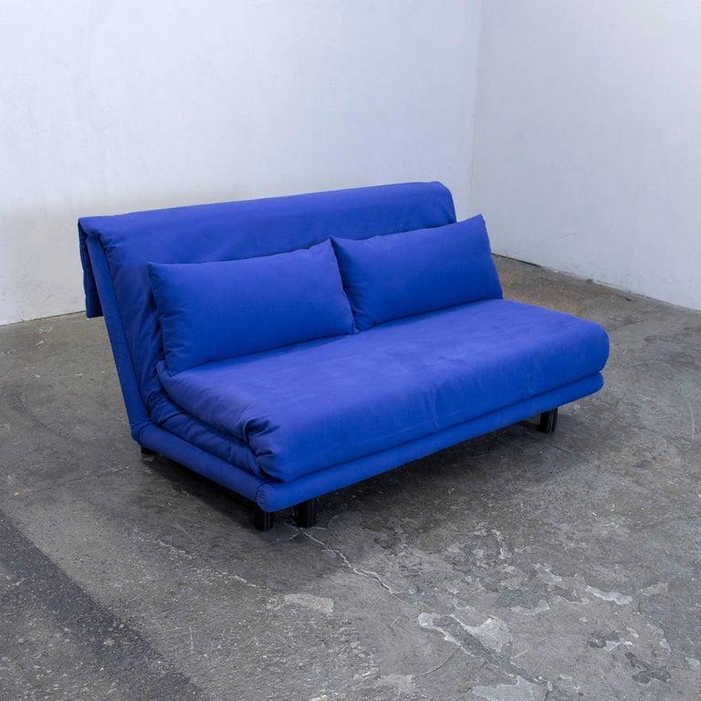 Ligne Roset Multi Designer Sofa Fabric Blue Two Seat Sleep Sofa