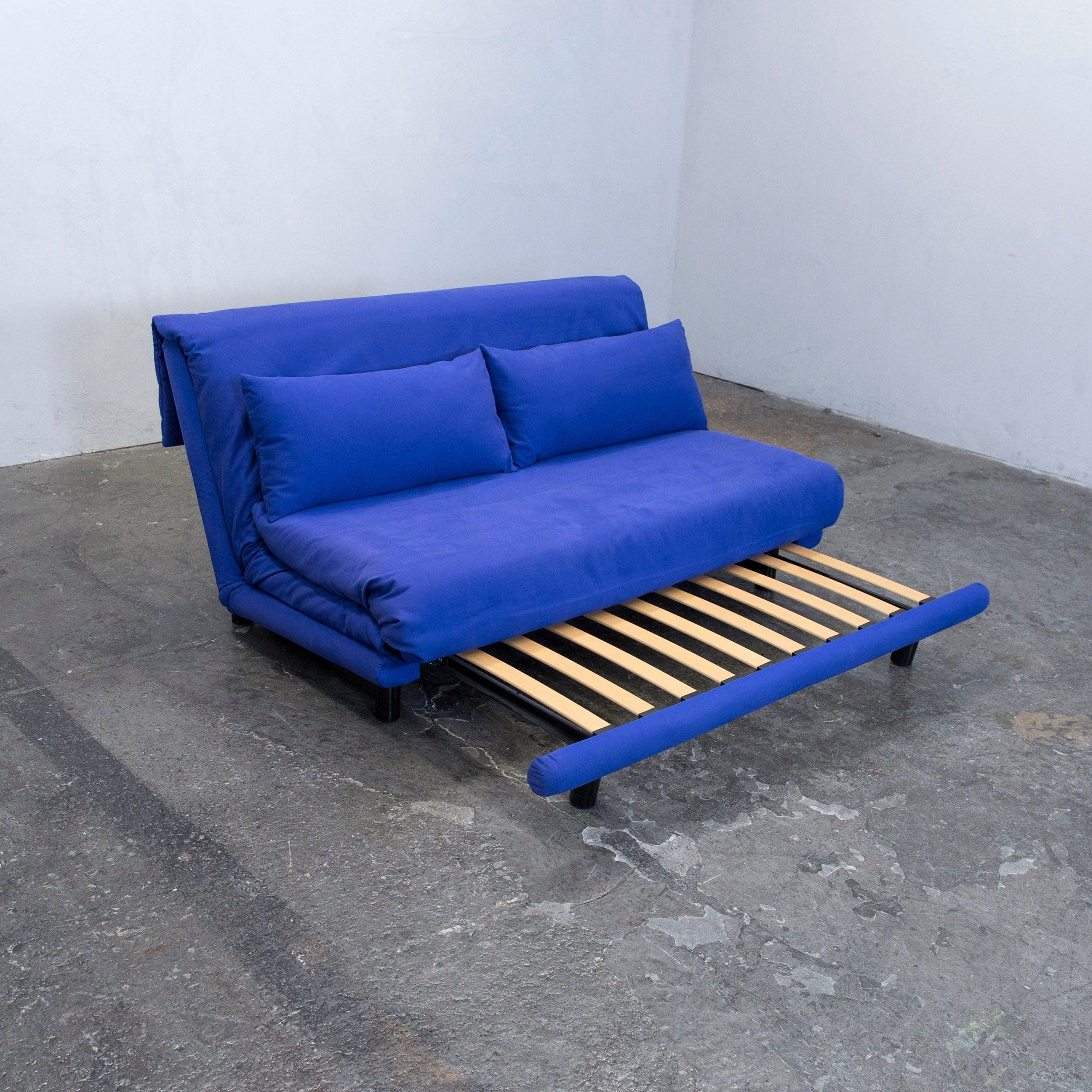 Ligne Roset Schlafsofa ligne roset multi designer sofa fabric blue two seat sofa