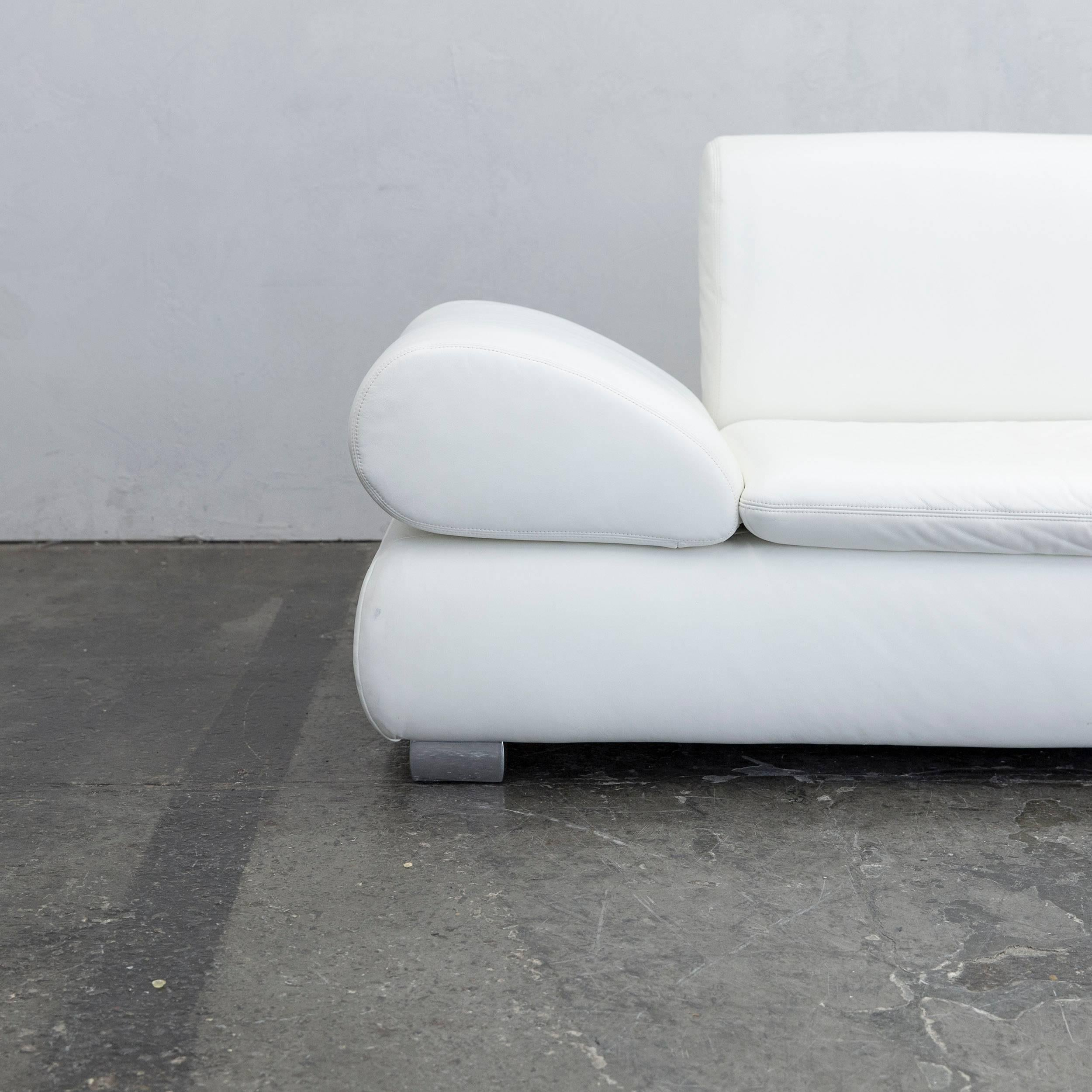 German Koinor Diva Designer Sofa Leather White Two Seat Function Couch  Modern For Sale