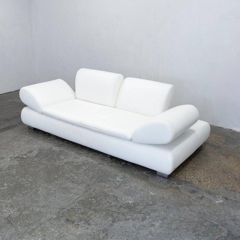 Koinor Diva Designer Sofa Leather White Two-seat Function