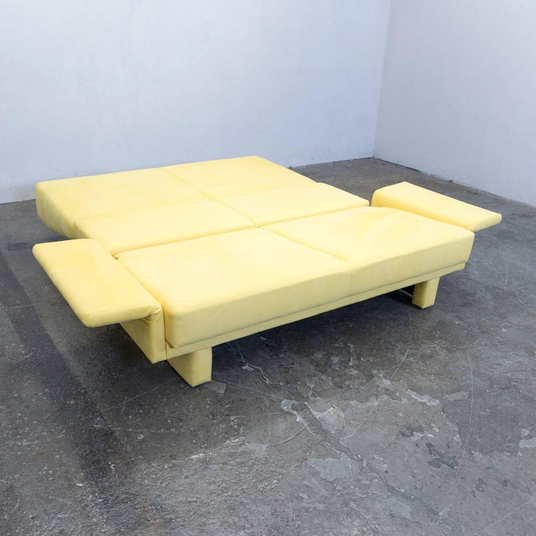 br hl and sippold designer sleep sofa fabric yellow three seat couch function for sale at 1stdibs. Black Bedroom Furniture Sets. Home Design Ideas