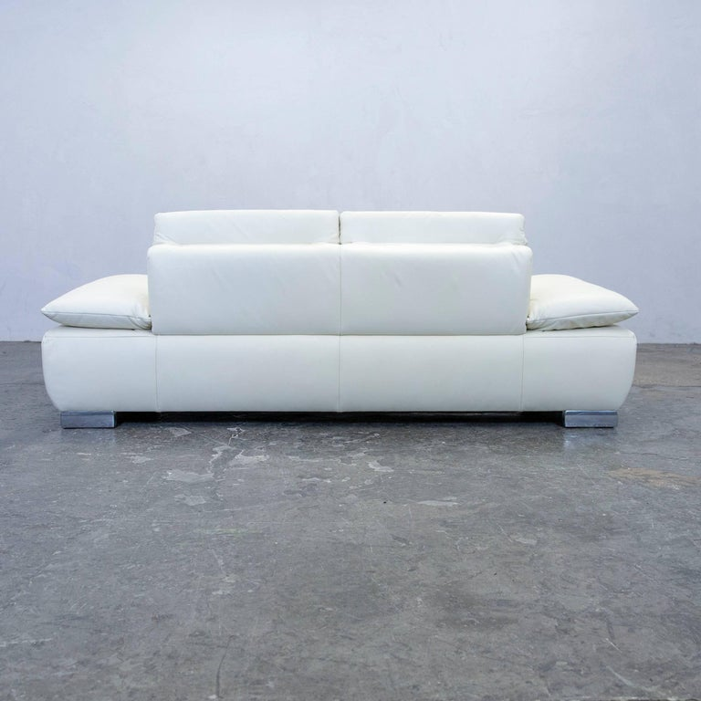 Koinor Volare Designer Sofa Leather Cr Me Two Seat Function Couch Modern At 1stdibs