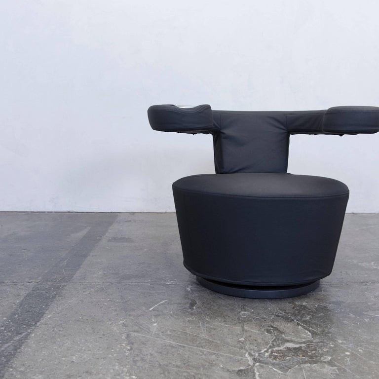 br hl und sippold big arm fabric chair black modern for sale at 1stdibs. Black Bedroom Furniture Sets. Home Design Ideas