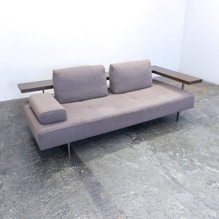Rolf Benz Dono 6100 Designer Sofa Grey Fabric Function Two-Seat