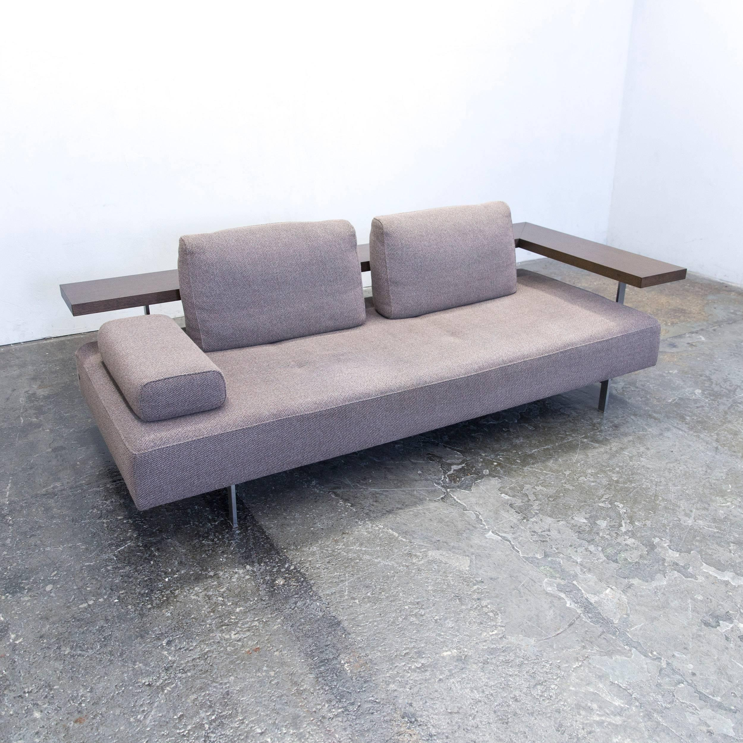 Rolf Benz Dono 6100 Designer Sofa Grey Fabric Function Two Seat Couch Modern  2