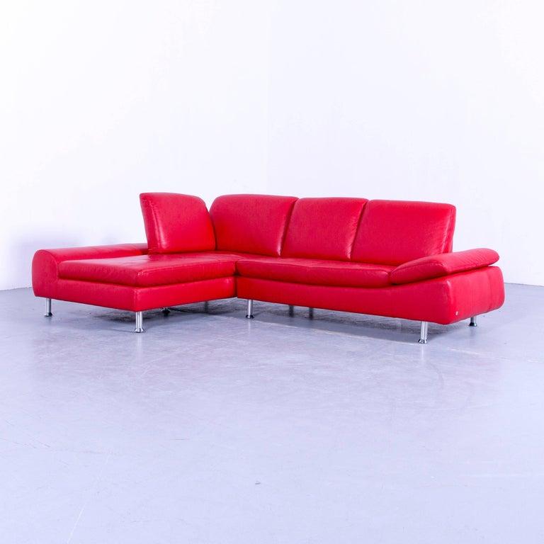willi schillig loop designer corner sofa set leather red. Black Bedroom Furniture Sets. Home Design Ideas