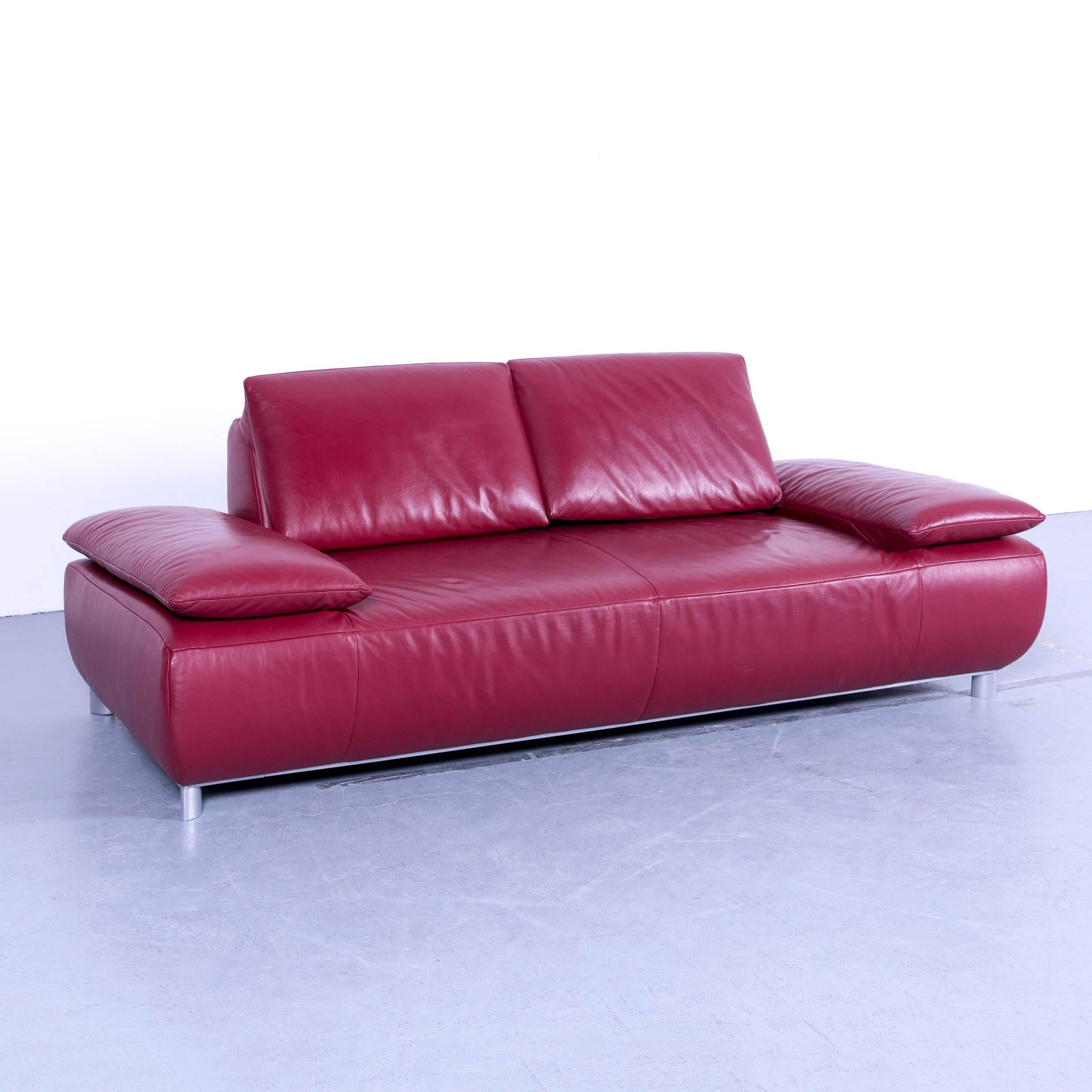 Amüsant Sofa Und Sessel Sammlung Von Koinor Volare Designer Leather Red Three-seat Couch,