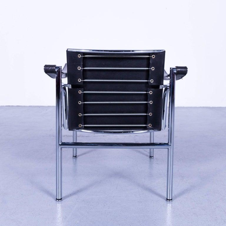 Cassina Le Corbusier LC 1 Sling Chair Set Black Leather Bauhaus at ...