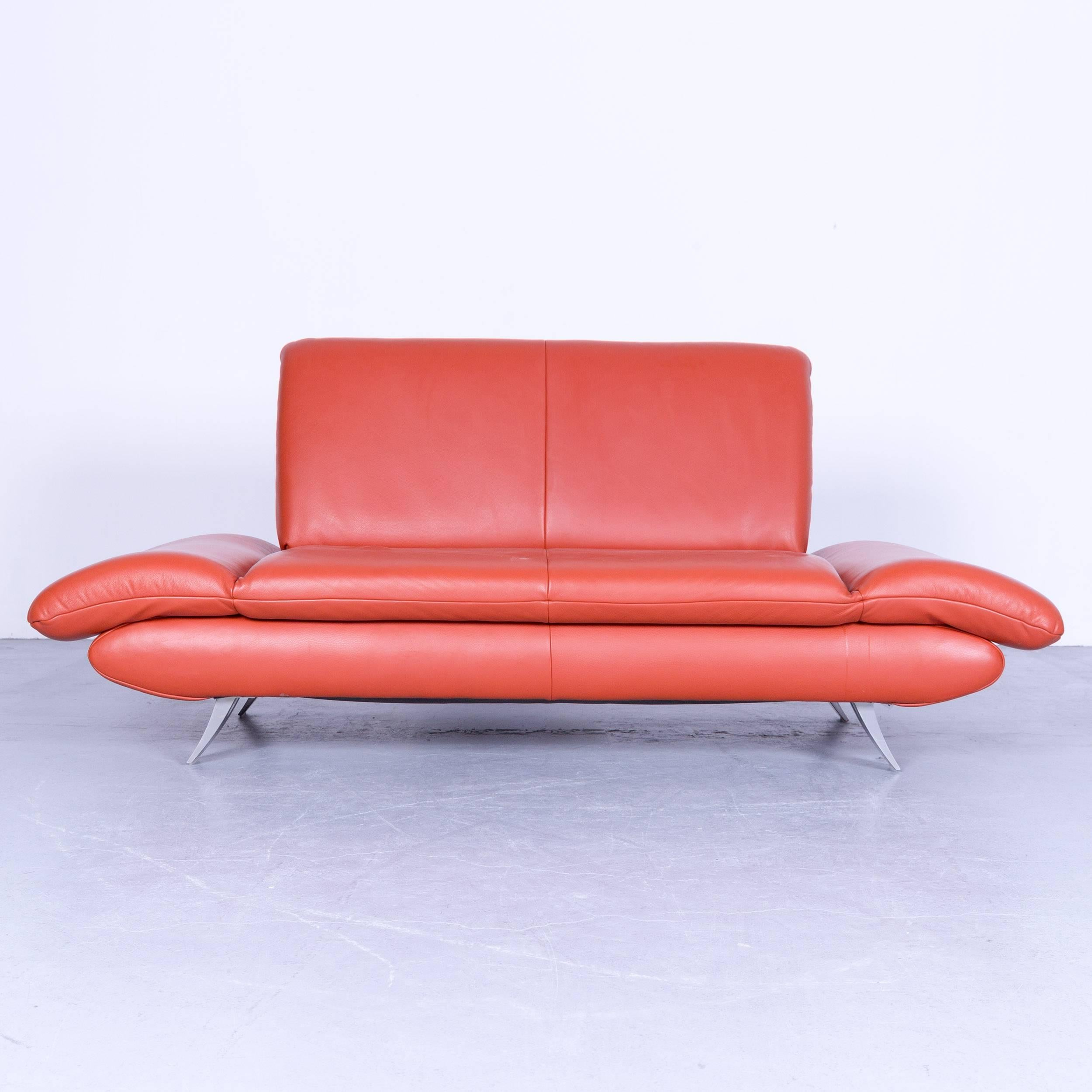 Koinor Rossini Designer Leather Sofa Red Leather Function Two Seat In A  Minimalistic And Modern
