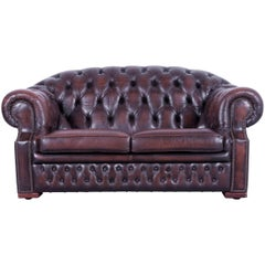 Centurion Chesterfield Sofa Brown Mocca Two-Seat Vintage Retro Couch