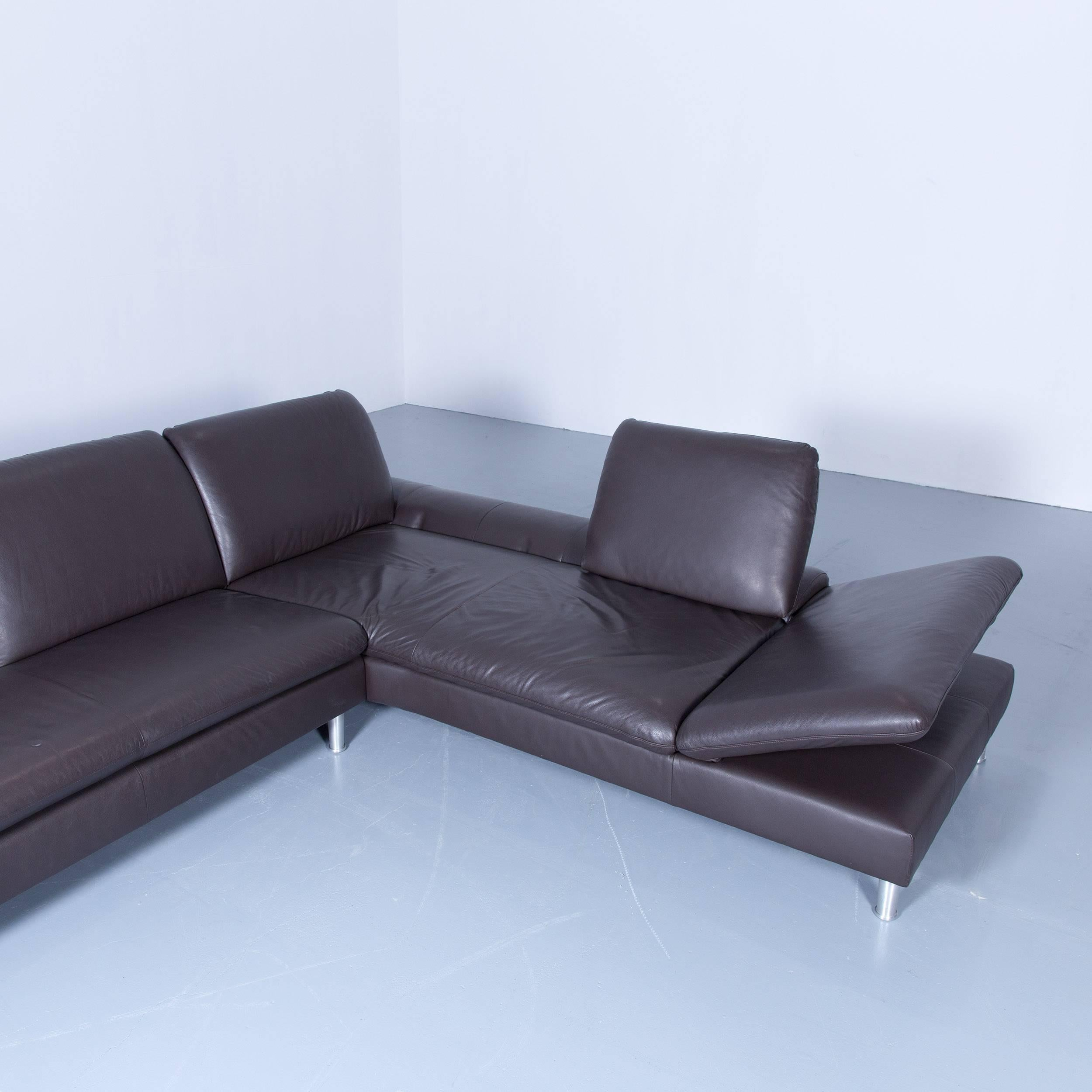 Cheap Willi Schillig Loop Designer Corner Sofa Set Leather Brown Function  Couch Modern At Stdibs With Sofa Braun