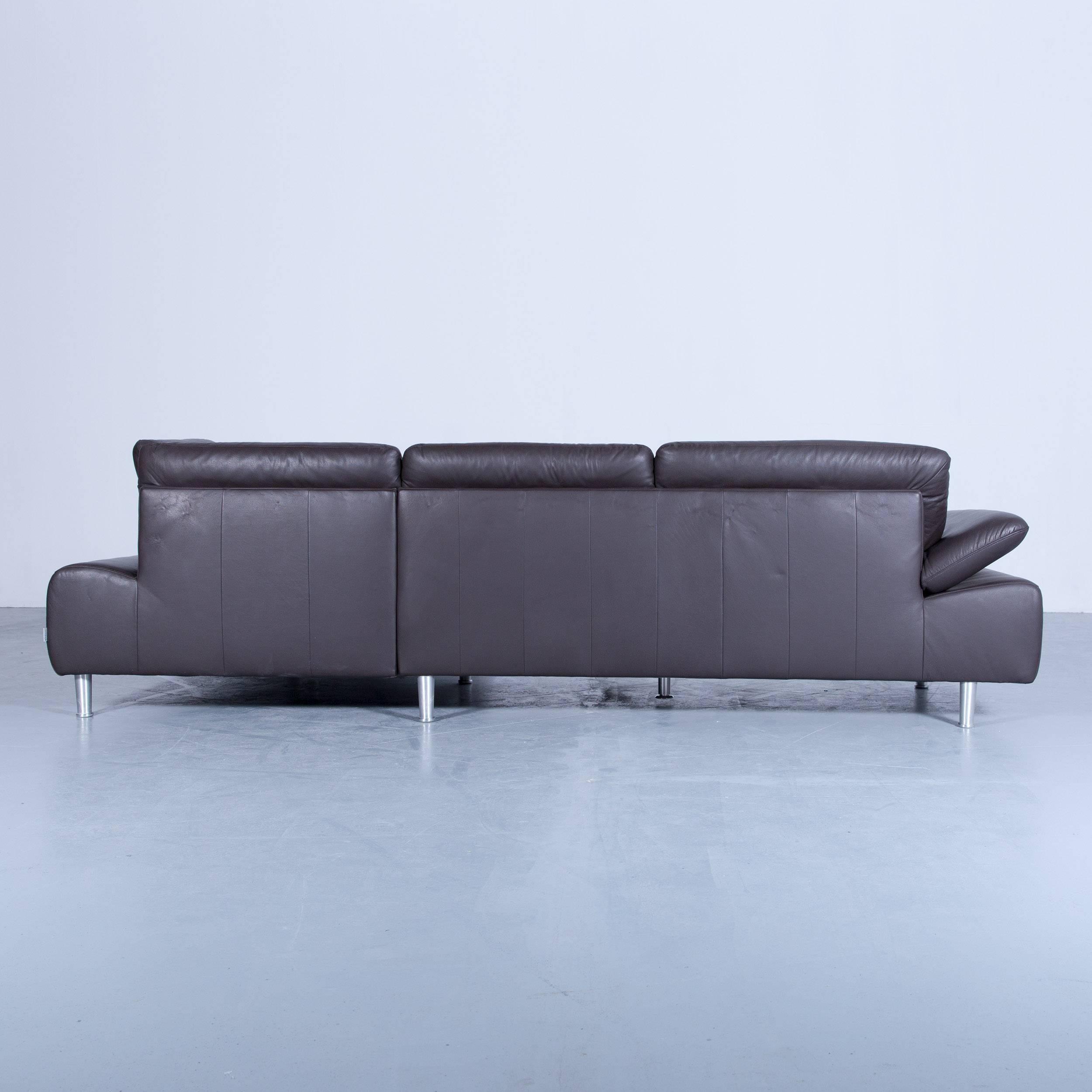 Willi Schillig Loop Designer Corner Sofa Set Leather Brown Function