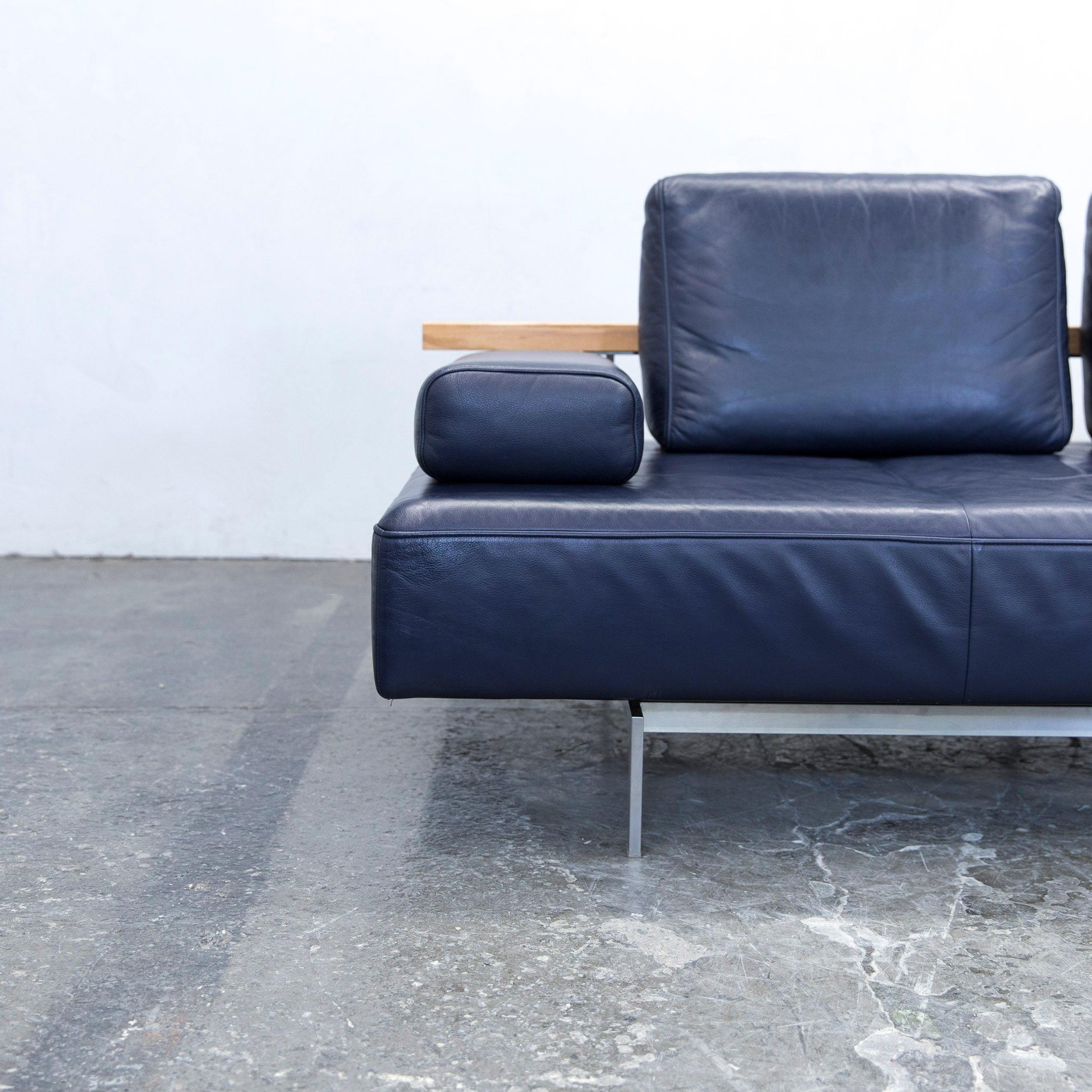 Rolf Benz Dono Designer Sofa Aubergine Leather Three Seat Couch Modern At  1stdibs