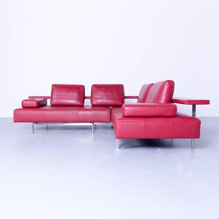dono modular sofa rolf benz. Rolf Benz Dono Designer Corner Sofa Red Leather Couch Modern, In A Minimalistic And Modern Modular
