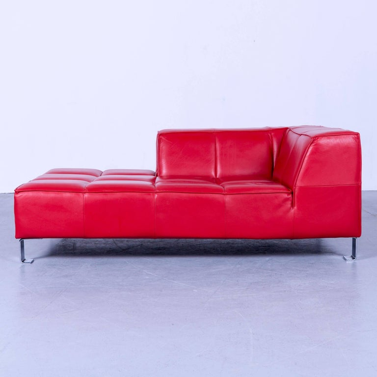 sofa leather couches sectional couch red modern