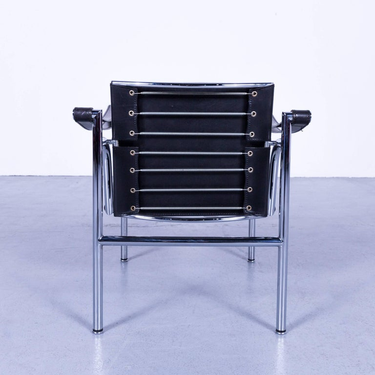 cassina le corbusier lc 1 sling chair black leather bauhaus at 1stdibs. Black Bedroom Furniture Sets. Home Design Ideas