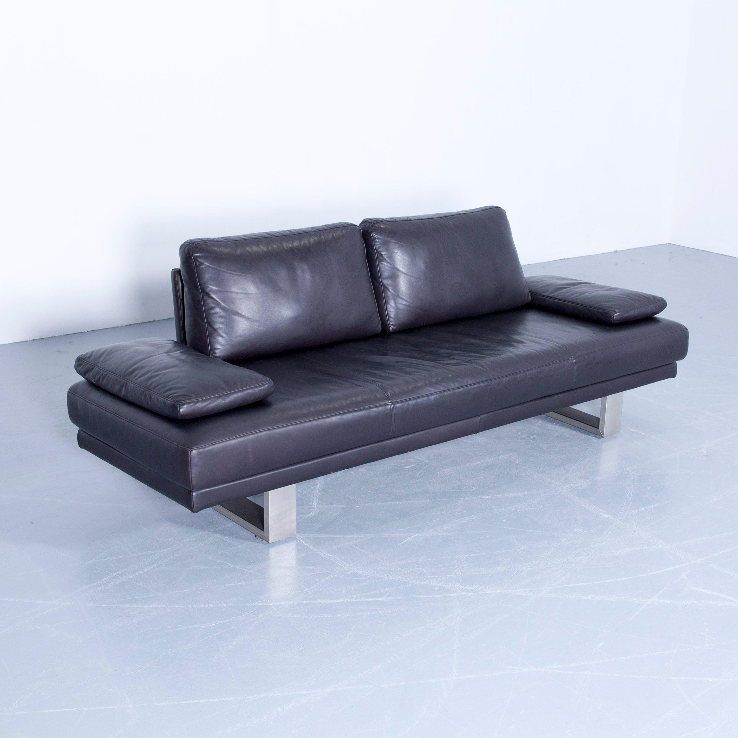 Beeindruckend Sofa Benz Dekoration Von Rolf 6600 Designer Leather Aubergine Black Three-seat